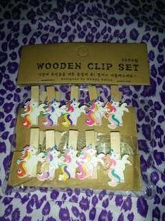 Unicorn Photo wall clip set