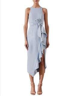 Shona joy dress Celeste ruffle front midi with belt dress