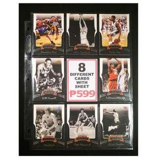 Press Pass 8 Different Great Select Basketball Cards