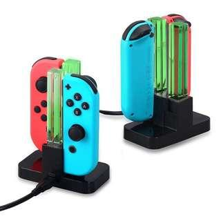 🚚 Nintendo Switch Joy-Con Controller Charger LED 4 in 1