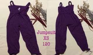 Violet jumpsuit stretchable