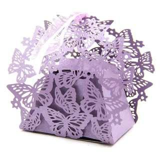 20 PCS Butterfly Wedding Candy Boxes With Ultra High Precision Laser Cutting