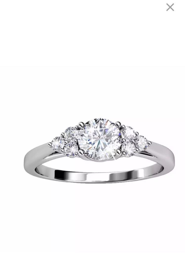 20980e78c3494 18k white gold plated swarovski ring, Women's Fashion, Jewellery ...