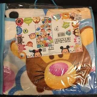 Disney tsum tsum blanket 雪狐絨毛毯 (全新)