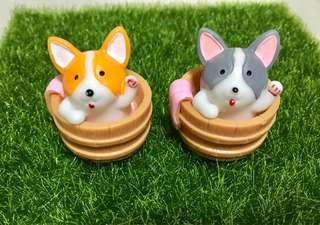 Terrarium Accessories / Terrarium Dog In Bucket / Miniature Dog / Miniature Puppy