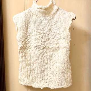 Trendy Ivory Woven Vest 米白色冷背心