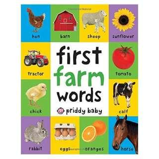 First Farm Words (First 100) #1212