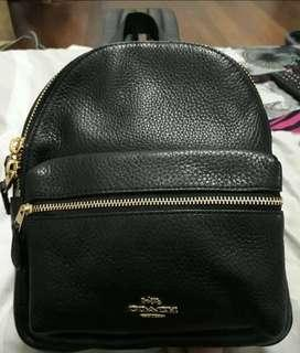 Coach mini charlie backpack with tag and gift receipt