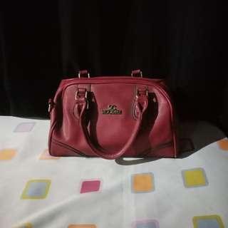 Secosana Maroon Handbag
