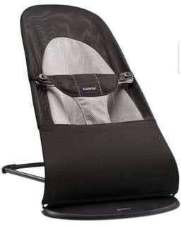 Baby Bjorn Mesh Bouncer Chair (Black/grey)