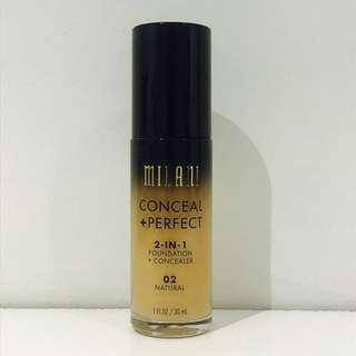 Milani Conceal + Perfect Foundation 02 Natural