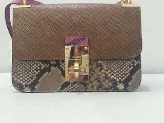 Authentic aldo snake skin bag
