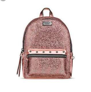 Glitter Mesh Small City Bcakpack