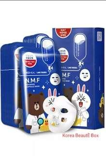 🚚 Mediheal Line Friends N.M.F Aquaring Ampoule Face Mask Sheet 27ml 10pcs