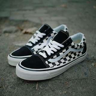 Vans Oldskool DX Anaheim Checker Black White