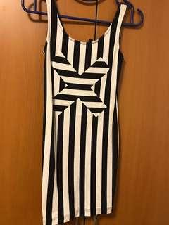H&M Striped Body-fitting Dress