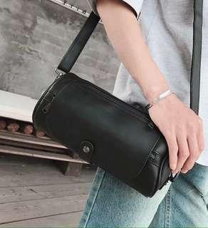 🚚 韓式作風 歐巴極簡 圓筒側背包