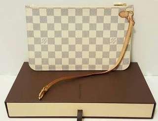Louis Vuitton Neverfull Pochette Damier Azure