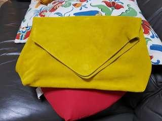 Mango suede clutch. Used once