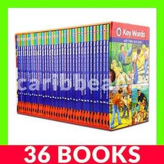 Ladybird Key Words with Peter and Jane Box Set - 36 Books