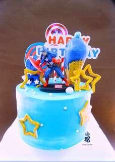 Birthday cake - Marvel theme