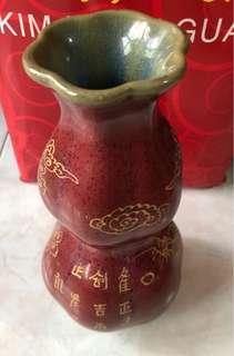 大宋玫瑰紫釉葫芦瓶