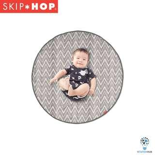 Skip Hop Grab & Go Round Trip Travel Mat | Grey Zig Zag [BG-SH274150]