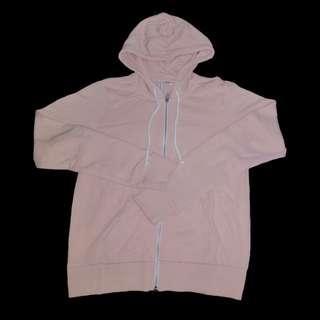 H&M Divided Hoodie Zipper (Powder Pink)