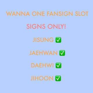 FANSIGN SLOT WANNA ONE POWER OF DESTINY ALBUM