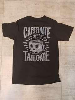 Beautiful machine tee Caffeinate not tailgate