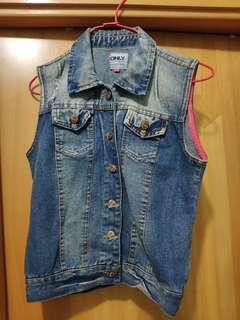 女裝牛仔背心外套 women jeans vest