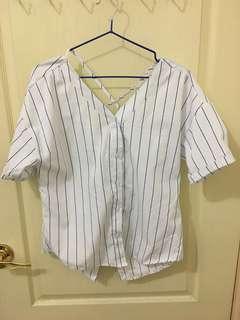 🚚 直條襯衫 正反兩面都可穿 可到L
