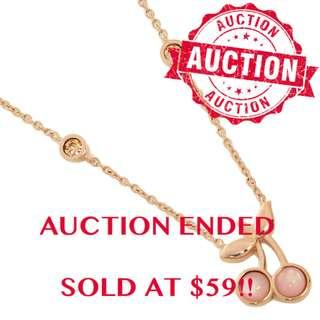 """⏰ENDING SOON!! Auction """"Like"""" & """"Bid"""" Authentic Brand New Coach Cherry Pendant Necklace From USA Suggested Retail: $198"""