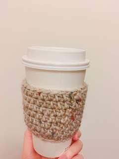 咖啡杯/熱飲 手做鈎織隔熱套杯套 送禮自用 聖誕禮物 生日禮物