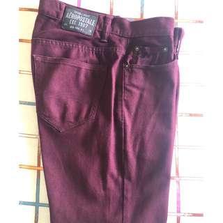 Mens AEROPOSTALE Bowery Slim Straight Jeans Pants