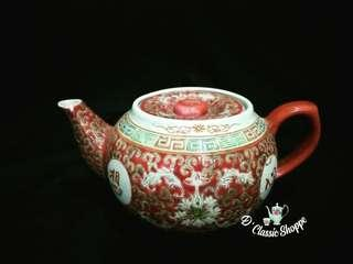 Red Chinese Tea Pot