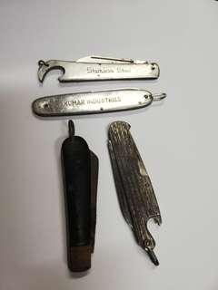 Vintage pen knives.. RM45 for all
