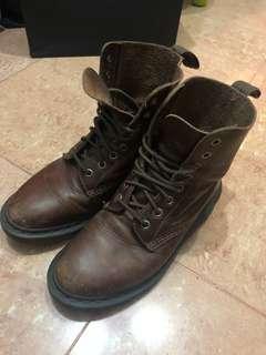 Dr Martin 啡色鞋 brown boots