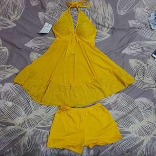 yellow dress (beacg dress/lingerie)
