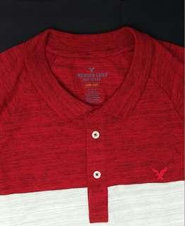 American Eagle Outfitters男裝長袖Polo Shirt
