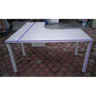Meja L-shape Executive Table w/Drawers * M25 P