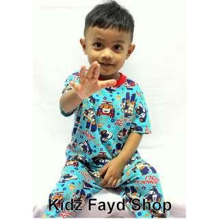 kids clothing fashion Boys and Girls tshirt pyjamas -Robocar Poli