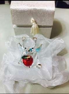 聖誕禮物-熊仔天使水晶
