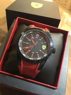 🚚 Scuderia Ferrari 法拉利 RedRev 競速手錶-黑x紅/44mm 0830299