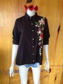 Floral polo tops