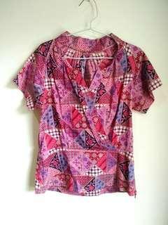 Blouse Batik Pink