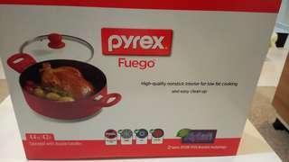 brand new Pyrex Fuego Cooking Saucepot pot