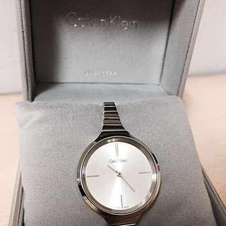 Calvin Klein 手錶 腕錶 CK白面玫瑰金 女錶