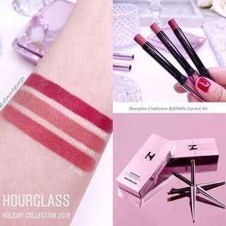 [超限量🎄代購] HOURGLASS Confession Refillable Lipstick Set | 煙管唇膏套裝 | Holiday Collection 2018