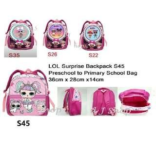 In stocks: LOL Surprise Doll Backpack/ LOL Surprise Doll School Bag